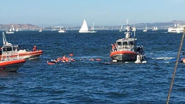 Naufrage d'un bateau dans la baie de San Franciscoavec 30 personnes à bord